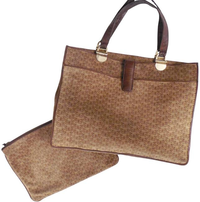 Bottega Veneta Clutch Vintage Butterfly Large Plus Italy Brown Suede Leather Tote Bottega Veneta Clutch Vintage Butterfly Large Plus Italy Brown Suede Leather Tote Image 1