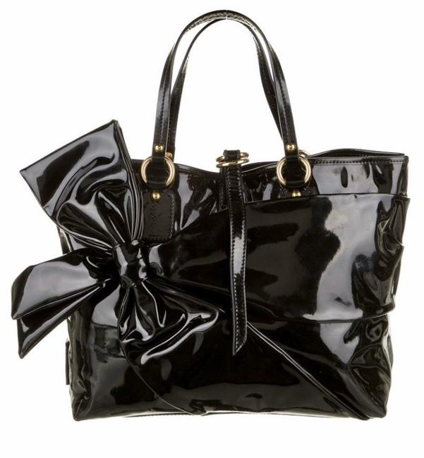 Valentino Black Patent Leather Tote Valentino Black Patent Leather Tote Image 1