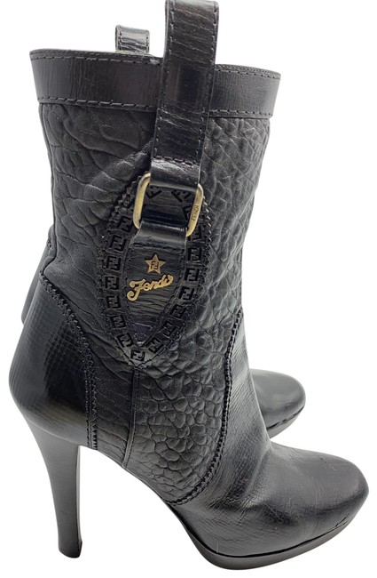 Fendi Black Ankle Boots/Booties Size EU 38 (Approx. US 8) Regular (M, B) Fendi Black Ankle Boots/Booties Size EU 38 (Approx. US 8) Regular (M, B) Image 1