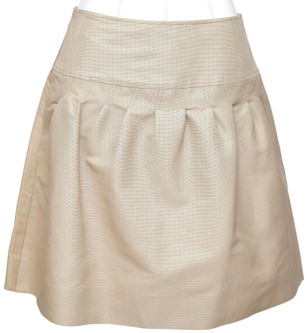 Item - Beige A-line Above Knee Cotton Bnwt Skirt Size 4 (S, 27)