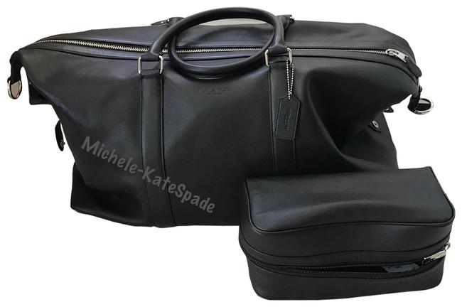 Coach Duffle ** Voyager 52 In Sport Calf Matching Black Calfskin Leather Weekend/Travel Bag Coach Duffle ** Voyager 52 In Sport Calf Matching Black Calfskin Leather Weekend/Travel Bag Image 1