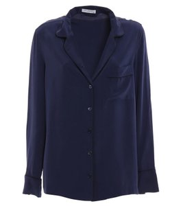 Equipment Silk Hollywood Date Night Party Night Out Top Peacoat Black