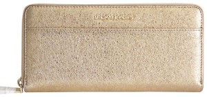 Michael Kors Michael Kors Travel Continental Leather Wallet Gold with Kors Gift Box