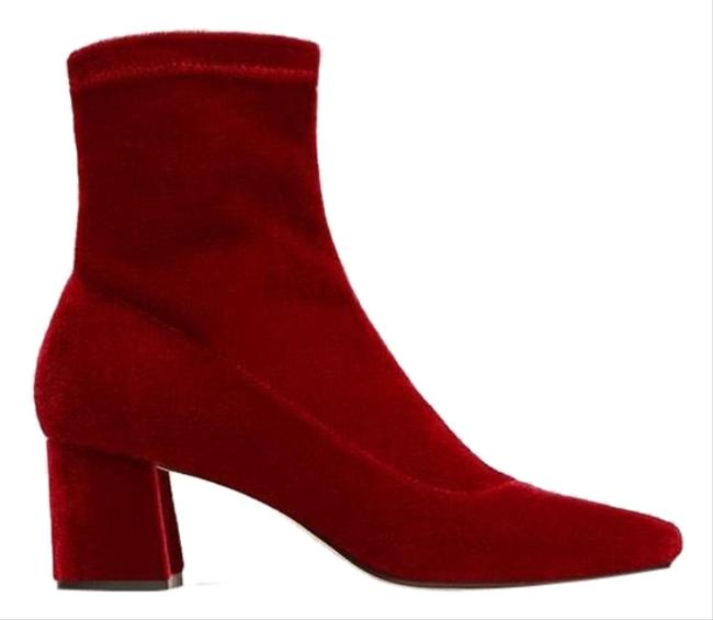Item - Red Heeled Ankle Boots/Booties Size EU 37 (Approx. US 7) Regular (M, B)