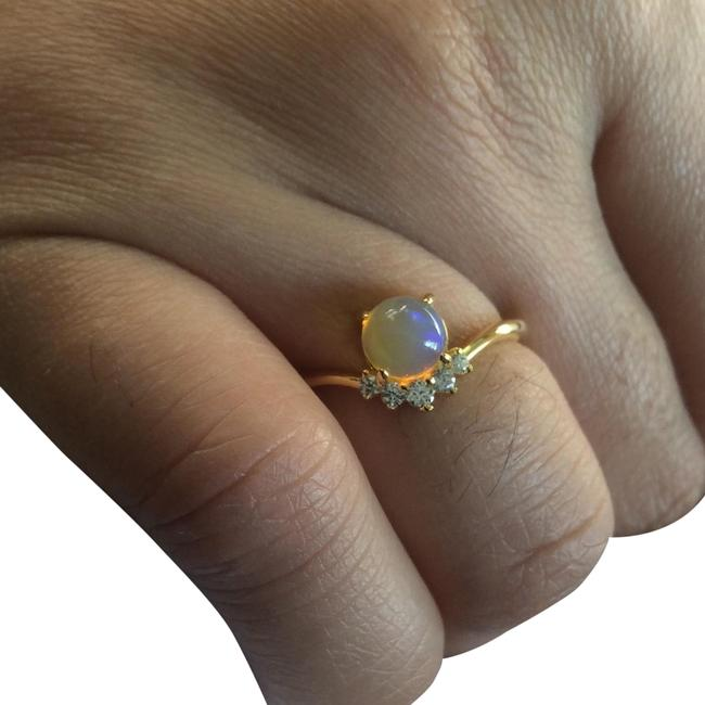 Item - Gold 14k Layering Natural Fire Opal Ring