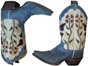Justin Boots Cowgirl 6.5 Size 6.5 6.5 Cowgirl 6.5 Blue & White Boots