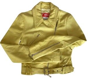Versace Jeans Collection Yellow Leather Jacket