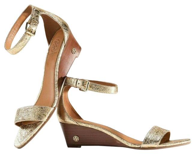Item - Gold Savannah 45mm Sandal Metallic Leather Wedges Size US 5 Regular (M, B)