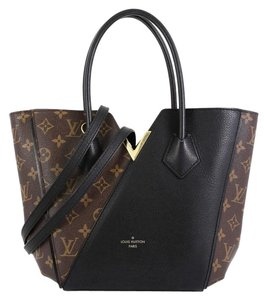 Louis Vuitton Canvas Leather Tote in brown