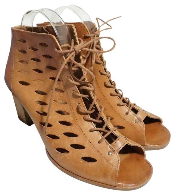 Item - Brown Bali Lace-up Zip Bootie Leather Sandals Size US 9 Regular (M, B)