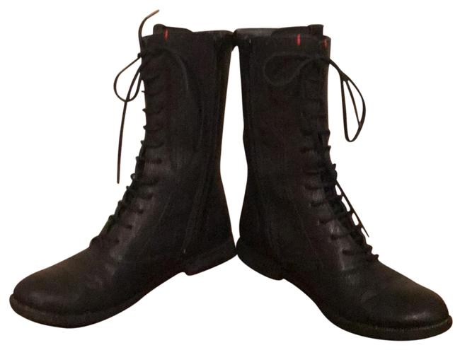 Item - Black Leather Ladies Bomber Style Ankle Boots/Booties Size EU 35 (Approx. US 5) Regular (M, B)