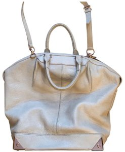Alexander Wang Satchel in cream grained leather with rose gold hardware