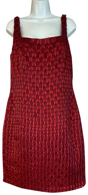 Item - Red Silk Shift Short Night Out Dress Size 12 (L)