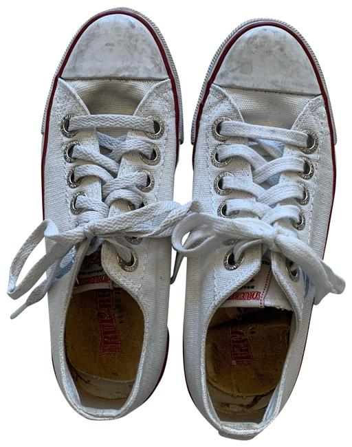 Item - White and Red Distressed Converse Like Sneakers Size US 8 Regular (M, B)