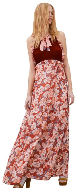 Item - Red Blossom Tank Long Casual Maxi Dress Size 2 (XS)