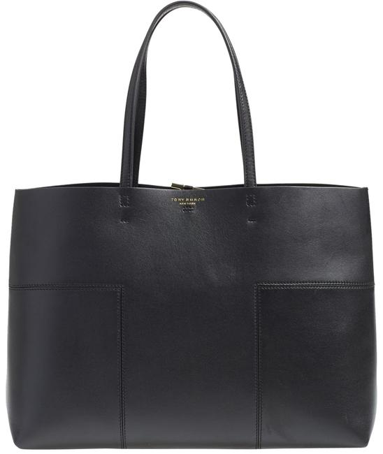 Item - Block-t' Black Leather Tote
