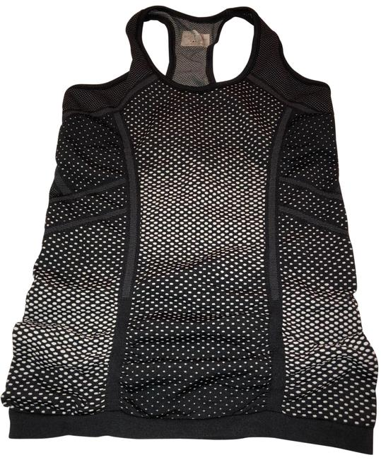Item - Black with White Pattern Speedlight Tank Activewear Top Size 4 (S)