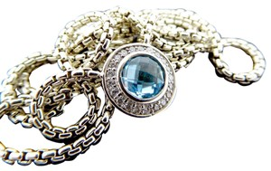 David Yurman David Yurman Cerise Blue Topaz & Diamond Necklace
