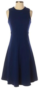 Joseph short dress Blue Ponte Night Out Fit And Flare Swing on Tradesy