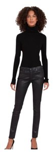 AG Adriano Goldschmied Leatherette Ankle Legging Silver Skinny Jeans-Coated