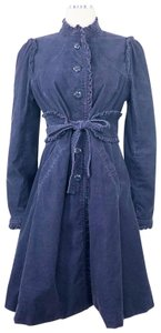 Elevenses Belted Ruffles Fit Flare Prairie Boho Trench Coat