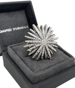David Yurman David Yurman Starburst .925 Sterling Silver 0.50 ct Diamond Ring
