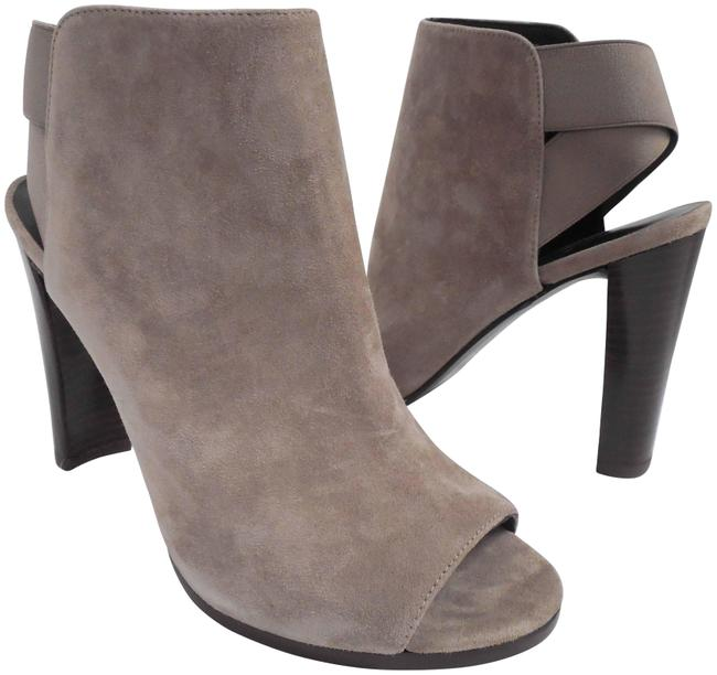 Item - Beige Suede Leather Open Boots/Booties Size US 7.5 Regular (M, B)