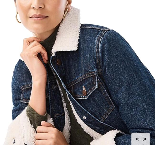 Item - Denim Sherpa Lined Activewear Outerwear Size 4 (S)