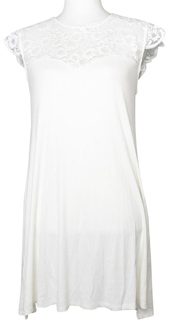 Item - White Cream Daisy Nightgown Short Casual Dress Size 4 (S)
