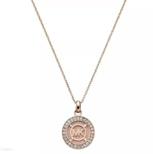 Michael Kors Women's Heritage Fulton Rose Gold Necklace Crystals