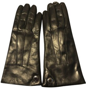 Coach COACH~100% CASHMERE LINED LONG SOFT LEATHER MAHOGANY GLOVES~83726~Sz 8