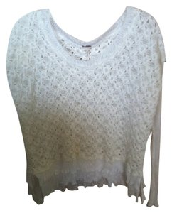 Free People Knit Ruffles Soft Fall Fall Sweater