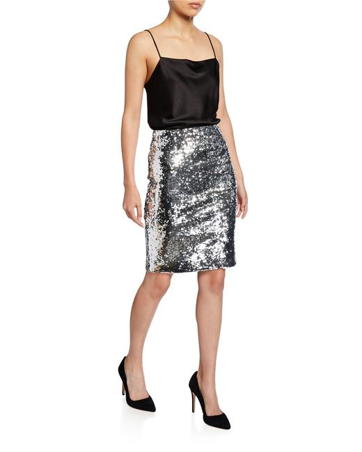 Item - Silver with Tag Ramos Sequin Fitted Skirt Size 2 (XS, 26)