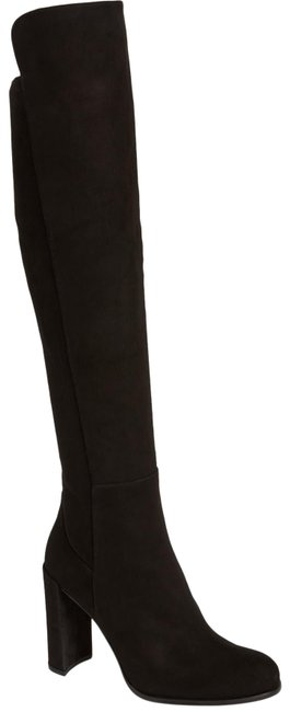 Item - Black Over The Knee Suede Stretch Boots/Booties Size US 10 Regular (M, B)
