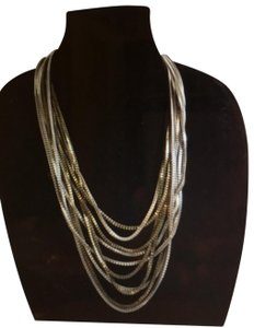 Express Express Chunky Metal Layered Fashion Necklace