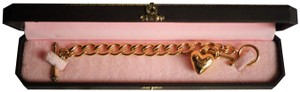 Juicy Couture GOLD-TONE TOGGLE PUFFY HEART & 'J' BRACELET