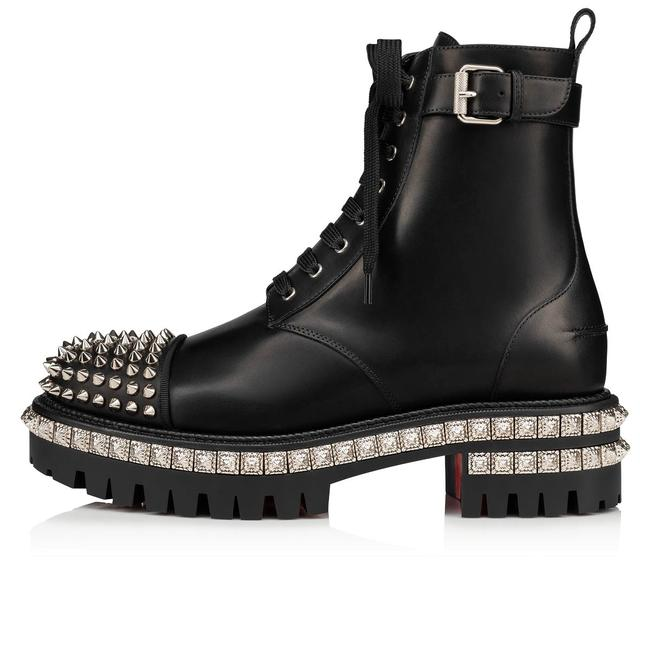 Item - Black King St Street Spikes Leather Combat Lace Up Hiking Boots/Booties Size EU 39 (Approx. US 9) Regular (M, B)