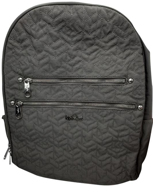 Item - Tina Quilted Grey Nylon Backpack