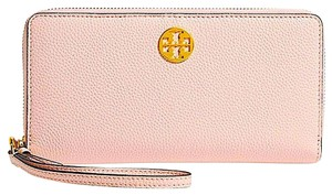 Tory Burch Pink with Tag Women's Everly Leather Passport Continental Wallet