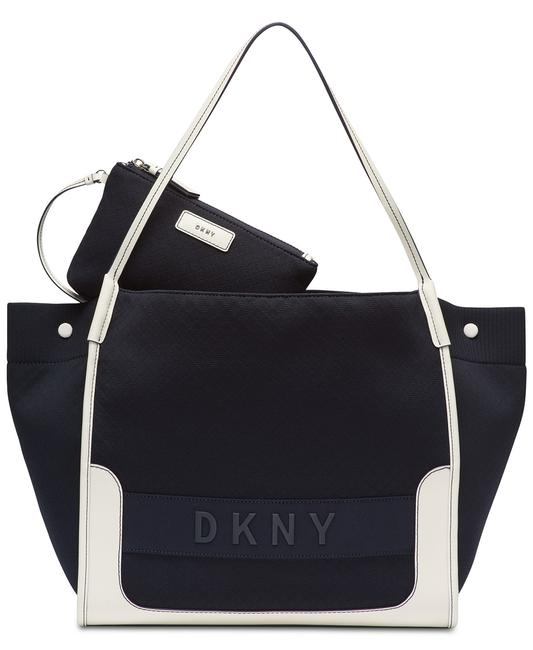 Item - Ebony with Pouch Navy/White Nylon Tote