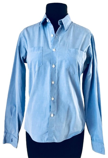 Item - Blue Polo Button-down Top Size 8 (M)