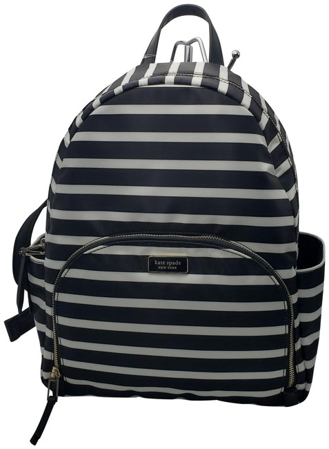 Item - Dawn Sailing Stripe Black Multi Nylon Backpack