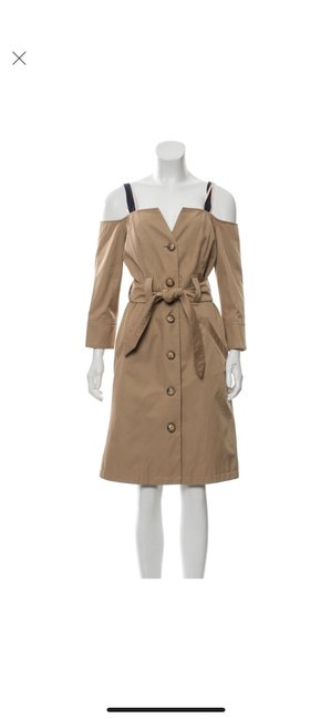 Item - Tan Trench Mid-length Work/Office Dress Size 4 (S)