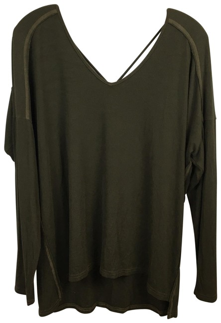 Item - Brown Rear Criss Cross Tee Shirt Size OS (one size)