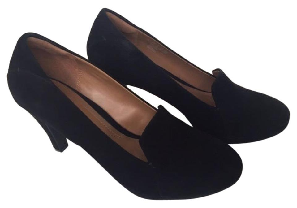 Clarks Black Collection Suede Slip On Soft Cushion Pumps Size US 10 Regular (M, B)