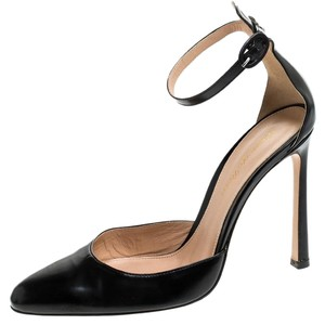 Gianvito Rossi Leather Ankle Strap Black Sandals