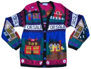 Unique Vintage Ugly Sweater Real Estate Picture Sweater Novelty Sweater Cardigan