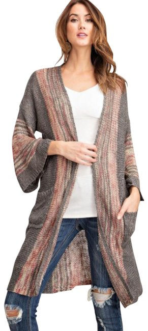 Item - Boho Open Front Wide Sleeve with Pockets Cardigan Size 8 (M)