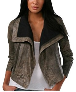 VEDA Ash (Greyish tan) Leather Jacket