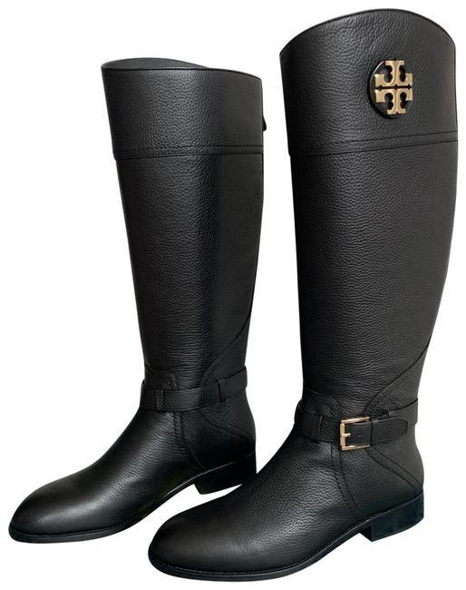 Item - Black Claire 20mm Tumbled Leather Riding Boots/Booties Size US 10.5 Regular (M, B)